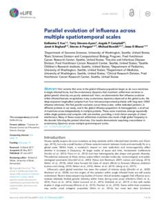 SHORT REPORT  Parallel evolution of influenza across multiple spatiotemporal scales Katherine S Xue1,2, Terry Stevens-Ayers3, Angela P Campbell3†, Janet A Englund4,5, Steven A Pergam3,6,7, Michael Boeckh3,6,7, Jesse D