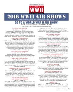 SPECIAL EVENTS SECTION  AMERICA IN WWII The War • The Home Front • The People