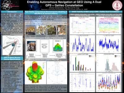 Enabling Autonomous Navigation at GEO Using A Dual GPS + Galileo Constellation Shankar Ramakrishnan, Tyler Reid and Per Enge Department of Aeronautics and Astronautics, Stanford University, Stanford, CAIntroduc