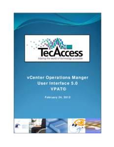 vCenter Operations Manager User Interface 5.0 VPAT: VMware, Inc.
