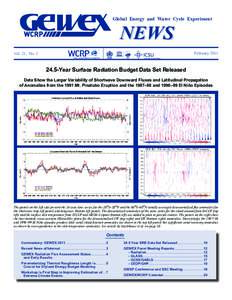 Global Energy and Water Cycle Experiment  NEWS February 2011