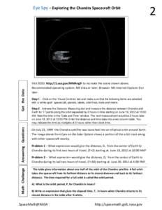 2  EyeSpy–ExploringtheChandraSpacecraftOrbit   MathChallenge