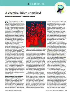 ac detective  A chemical killer unmasked Analytical techniques identify a contaminant in heparin.  O
