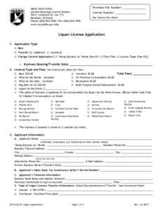 Premises File Number: _______________  Idaho State Police Alcohol Beverage Control Bureau 700 S. Stratford Dr. Ste 115 Meridian, ID 83642