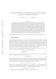 Optimal Local Multi-scale Basis Functions for Linear Elliptic Equations with Rough Coefficient∗ arXiv:1508.00346v1 [math.NA] 3 AugThomas Y. Hou