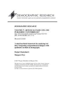 A mixed-methods framework for analyzing text data: Integrating computational techniques with qualitative methods in demography