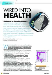 HEALTHCARE  WIRED INTO HEALTH The Internet of Things for healthcare