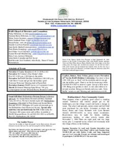 Hubbardston Area Historical Society Newsletter Number Nineteen, November, 2006 Box 183, Hubbardston, Miwww.hubbardston.org  HAHS Board of Directors and Committees