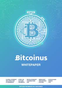 WHITEPAPER  GLOBAL PAYMENT SOLUTION FOR E-COMMERCE