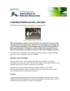 Microsoft Word - Controlling Predation on Goats.doc