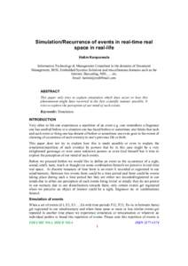 Kinematic Analysis of a Space Mechanism—Rendezvous Simulator