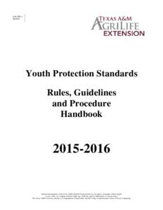 4-H-YPSYouth Protection Standards Rules, Guidelines and Procedure