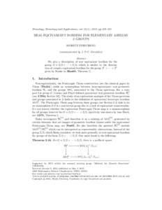 Homology, Homotopy and Applications, vol. 15(1), 2013, pp.235–251  REAL EQUIVARIANT BORDISM FOR ELEMENTARY ABELIAN 2–GROUPS MORITZ FIRSCHING (communicated by J. P.C. Greenlees)