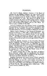 Fred M. Vinson / The Filson Historical Society / Kentucky / Southern United States / Paul G. Blazer