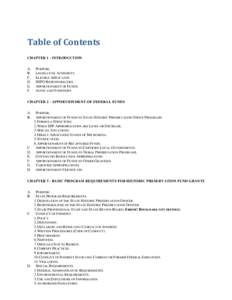 Table of Contents CHAPTER 1 - INTRODUCTION A. B. C. D.
