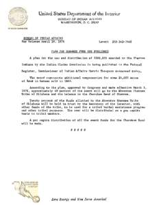 Eastern shawnee tribe of oklahoma idmarch document - United states department of the interior bureau of indian affairs ...