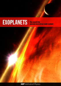 Exoplanets  The search for planets beyond our solar system  P
