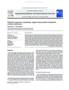 journal article organizational behavior