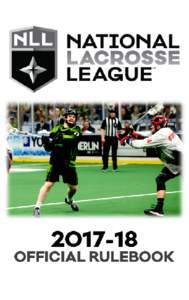 NATIONAL LACROSSE LEAGUE OFFICIAL RULESSEASON TABLE OF CONTENTS Page