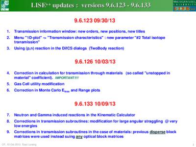 LISE++ updates : versionsTransmission information window: new orders, new positions, new titles