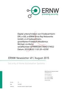 ERNW Newsletter 49 / August 2015