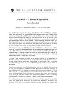 Jane Exall -