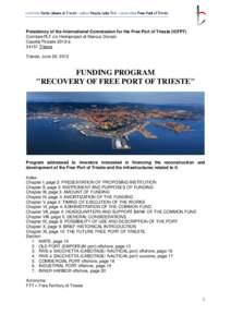 Microsoft Word - UK, FUNDING PROGRAM Recovery of FPT, June 29, 2012.doc