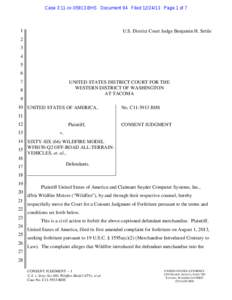 Case 3:11-cv[removed]BHS Document 94 Filed[removed]Page 1 of 7  1 U.S. District Court Judge Benjamin H. Settle