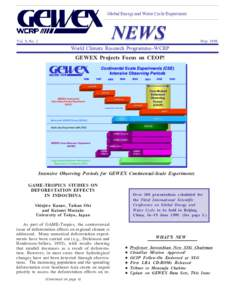 Global Energy and Water Cycle Experiment  NEWS Vol. 9, No. 2