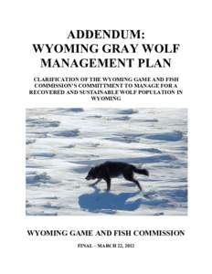 Gray wolf idmarch document search engine for Wyoming game and fish