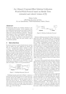 An (Almost) Constant-Effort Solution-Verification Proof-of-Work Protocol based on Merkle Trees (extended and colored version of [7]) Fabien Coelho ´ CRI, Ecole des mines de Paris,