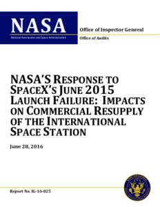 NASA National Aeronautics and Space Administration Office of Inspector General Office of Audits