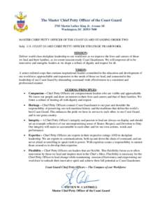 standing order by the chief mate In contravention of standing orders, no reports of these three encounters   fitzgerald's commanding officer, executive officer, master chief, and.