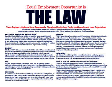 recruitment discrimination and equal opportunity policy Discrimination and equal employment opportunity  establish a complaint resolution policy to help  all personnel actions, including recruitment.