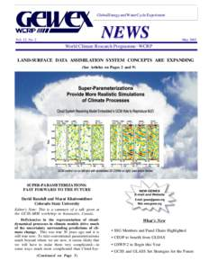 Global Energy and Water Cycle Experiment  NEWS Vol. 12, No. 2