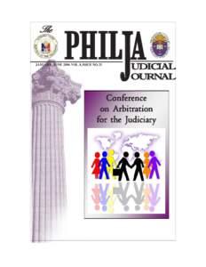 The  PHILJA JANUARY - JUNE 2006 VOL. 8, ISSUE NO. 25
