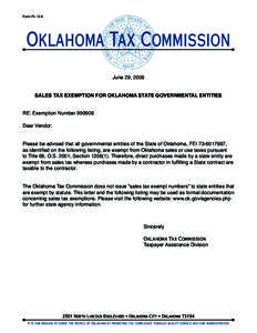 Oklahoma Tax Commission - PDFSEARCH.IO - Document Search Engine