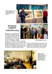 """Gunnar Andersson och Eric Lilius berättade om sitt projekt """"Borrkärnan från Odensjön""""  Röstångabygdens"""