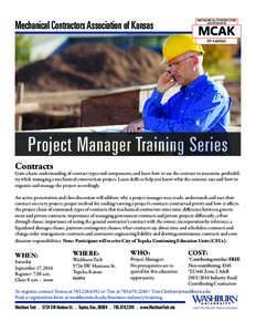 Mechanical Contractors Association of Kansas  MECHANICAL CONTRACTORS ASSOCIATION  MCAK