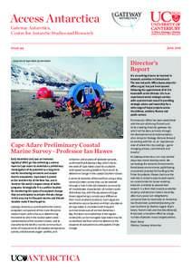 Access Antarctica Gateway Antarctica, Centre for Antarctic Studies and Research June 2016