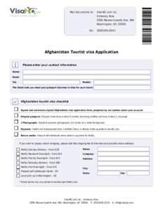 Mail documents to:  Tel: VisaHQ.com Inc. Embassy Row