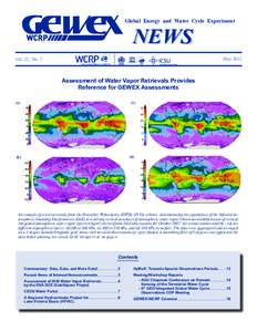 Global Energy and Water Cycle Experiment  NEWS May 2012