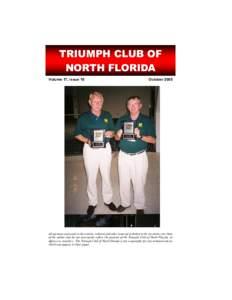 TRIUMPH CLUB OF NORTH FLORIDA Volume 17, Issue 10 October 2005