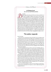 Letter to the editors FEATURES  [Letter to the Editors] References [1] Nuclear Techniques for
