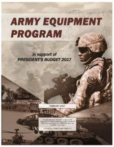 ARMY EQUIPMENT PROGRAM in support of PRESIDENT'S BUDGET 2017