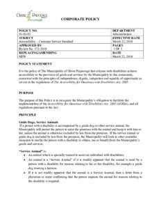 Microsoft WordAccessibility Customer Service Standard
