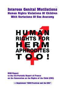 v 1.0  Intersex Genital Mutilations Human Rights Violations Of Children With Variations Of Sex Anatomy