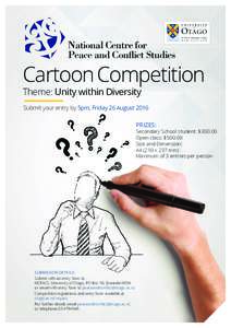 National Centre for Peace and Conflict Studies Cartoon Competition Theme: Unity within Diversity