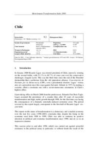 Mustergutachten zum Stand der wirtschaftlichen und politischen Transformation in Chile