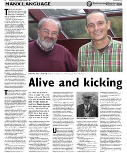 20  www.iomtoday.co.im Isle of Man Examiner, Tuesday, October 11, 2011